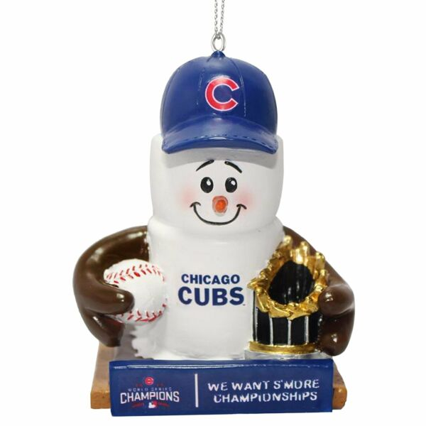 Chicago Cubs MLB 2016 World Series Champions Ornaments S'more Champs Orn