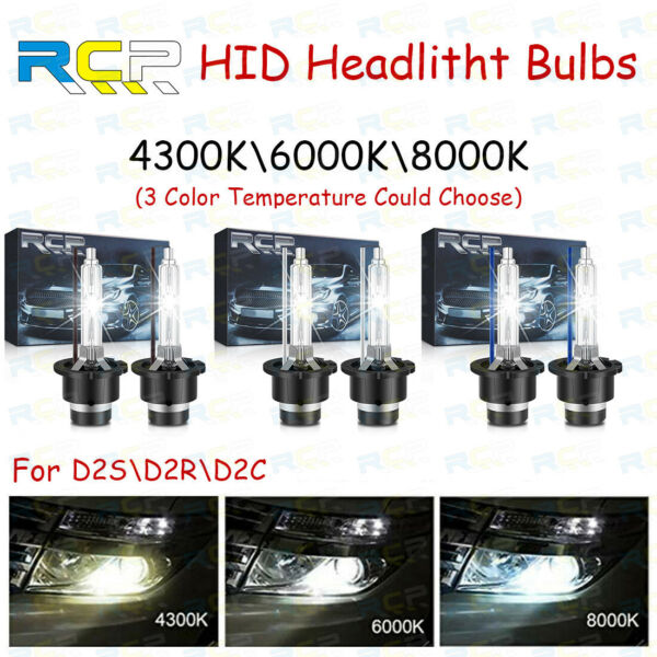 NEW 2X D2S D2R D2C 6000K Xenon HID For Osram Philips Headlight Light Lamp Bulbs
