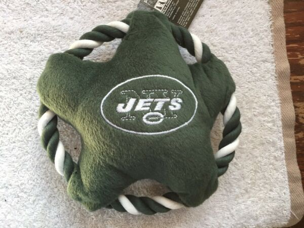 Pets First NFL New York Jets Star Disk Plush Squeaky Pet Toy  $9.95