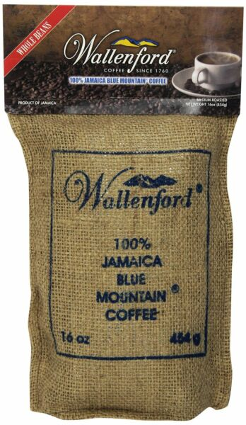 3 wallenford 100 percent jamaica blue mountain coffee roasted whole beans 16 oz