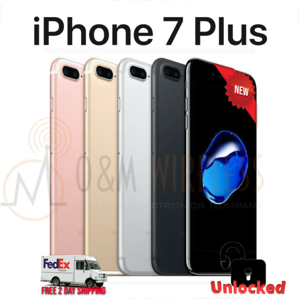 NEW Apple iPhone 7 PLUS 32GB 128GB 256GB (A1784, GSM Unlocked) - All Colors