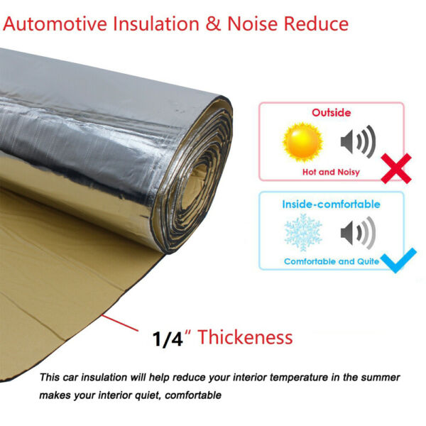 Heat Shield Insulation Sound Deadener Proof 230MIL 22