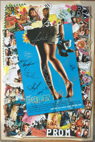 PROM MOVIE POSTER 2 Sided ORIGINAL *SIGNED CAST* 27x40 AIMEE TEEGARDEN
