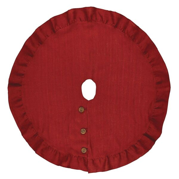 Park Designs Holiday Collection Jute Burlap Tree Skirt 60quot; Red