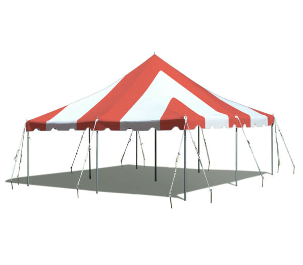 20x20' Red White Commercial Canopy Waterproof Wedding Party Premium Pole Tent