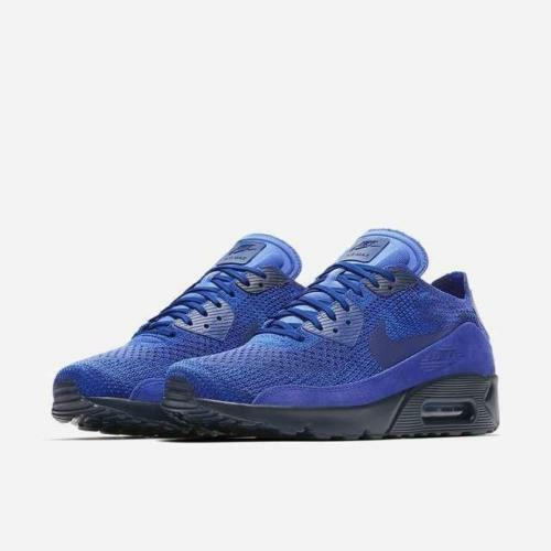 NIKE AIR MAX 90 ULTRA 2.0 FLYKNIT 875943 402 RACER BLUE/COLLEGE NAVY/DEEP ROYAL