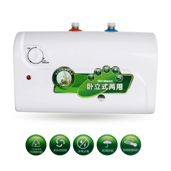 Mini Instant Hot Electric Shower Water Heater 8L Tank Bathroom Water Heater 110V