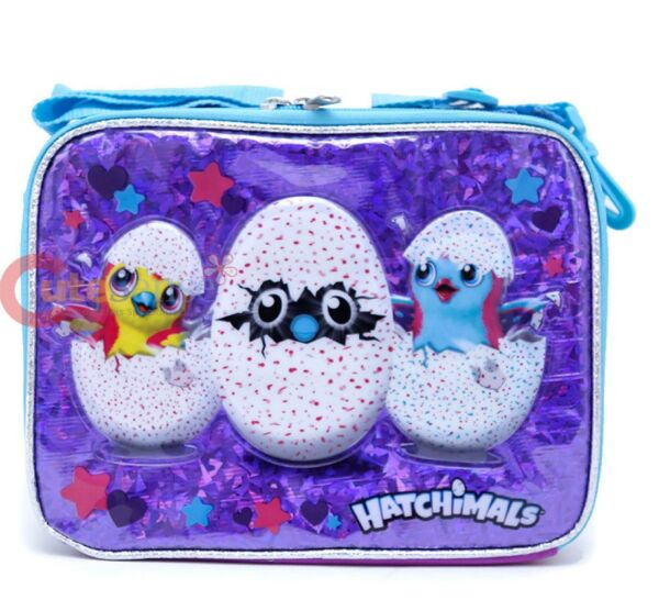 Hatchimals School Lunch Bag Insulated Pail Box Snack Bag