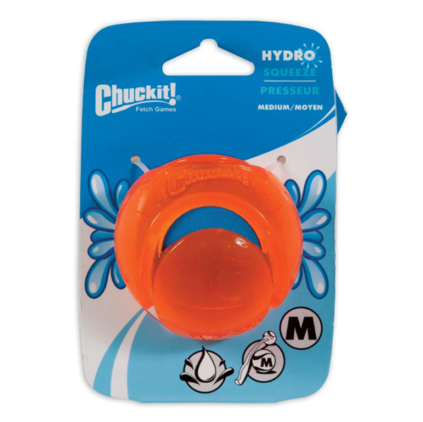 Chuckit Dog Puppy HYDROSQUEEZE Cooling Summer Play Ball Fetch Toy Game 6.5cm $12.52
