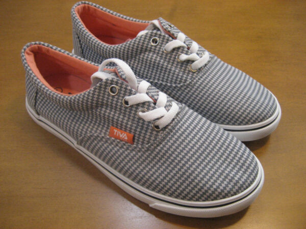 NEW $49 FILA TIVA Gray Canvas Womens Lace-up Sneakers Size 7M