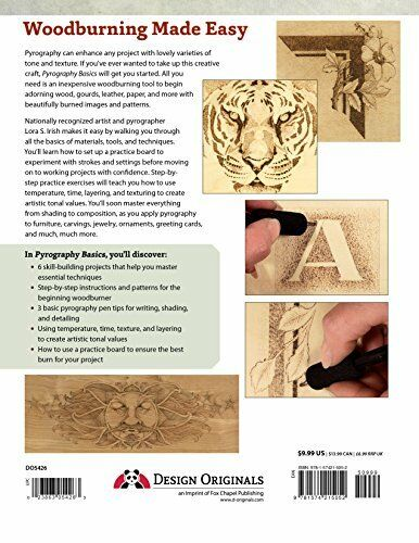 Woodburning Pyrography Basics Guide Techniques And Exercises for Beginners Book