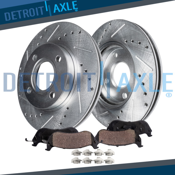 03-10 Chevy Cobalt G5 Ion Drilled Slotted Front Disc Brake Rotors