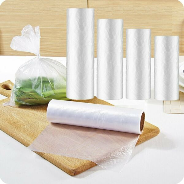 Plastic Produce On Roll Clear Bags Kitchen Storage Food Fruit Vegetables 350Bag