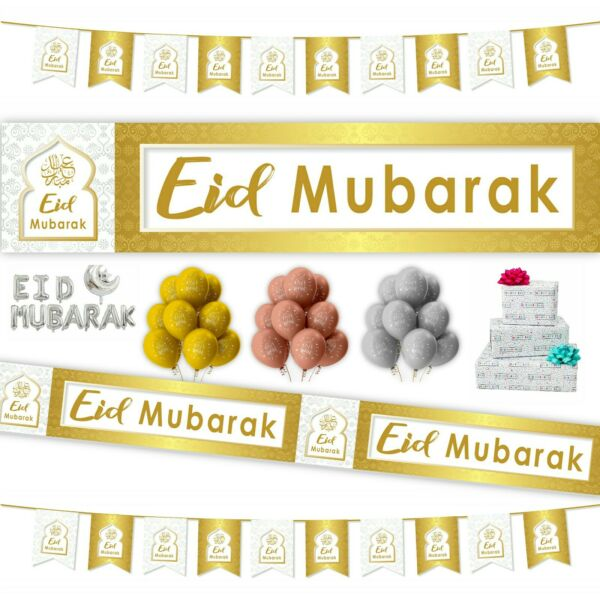 *Premium* EID DECORATIONS Banner Party Flags Bunting Card Gift  *2018 DESIGNER*