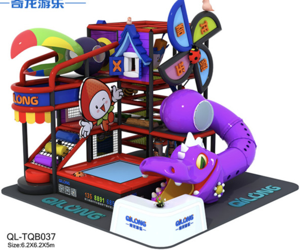 500 sqft Commercial Indoor Playground Themed Interactive Soft 100% Financing
