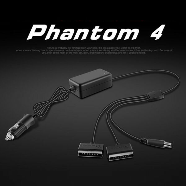 3 in 1 Dual Battery Car Charger Remote Control For DJI Phantom 4 Pro+ Adv Drone