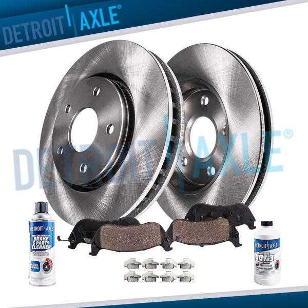 2.4L Front Disc Brake Rotors + Ceramic Pads Fit 2002-2004 2005 2006 Toyota Camry