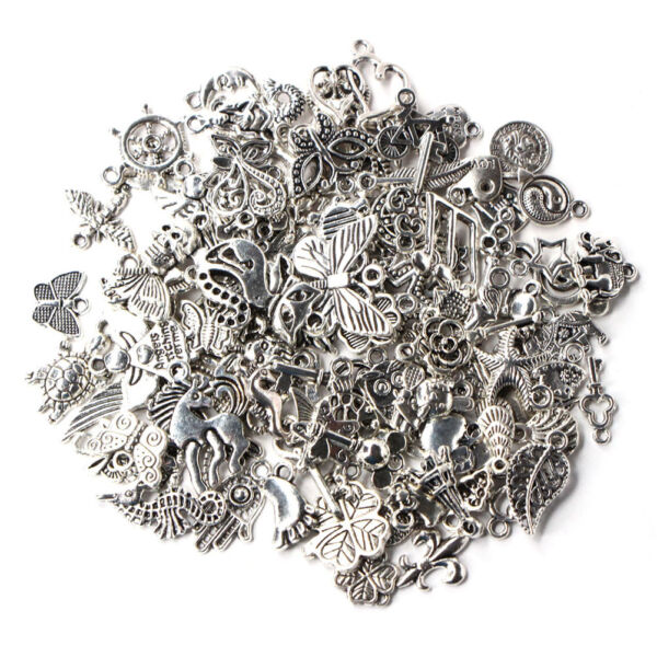 Wholesale 1000pcs Bulk Tibetan Silver Mix Charm Pendants Jewelry DIY US Lot
