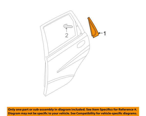 GM OEM Exterior-Rear-Trim Molding Right 96585539