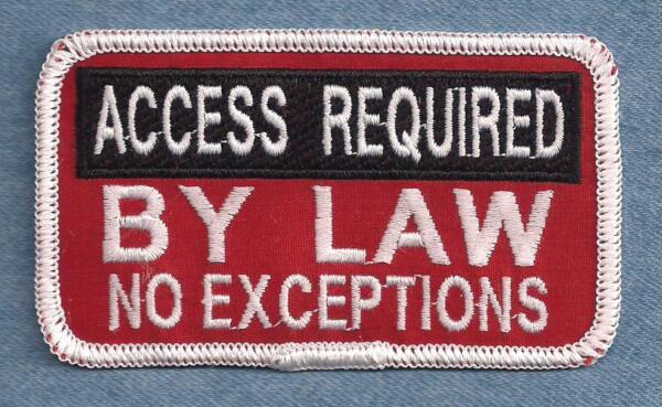 ACCESS REQUIRED BY LAW Service Dog vest patch $5.00
