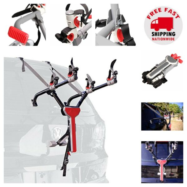 Trunk Mount Bike Rack Ultra Compact Bicycle Car Carrier Hatchback Vehicle Travel $70.53