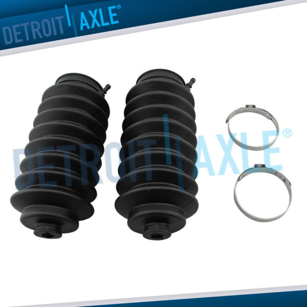 New 2 Rack and Pinion Tie Rod Boots amp; Bellows Locking Bands for Toyota Sienna $23.72