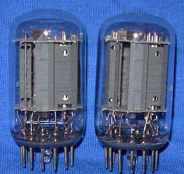 NOS Matched Pair General Electric 6T9 Triode Pentode Vacuum Tubes