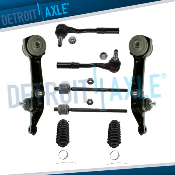 Front Lower Rearward Control Arms + Ball Joints + Inner & Outer Tie Rod Kit S430