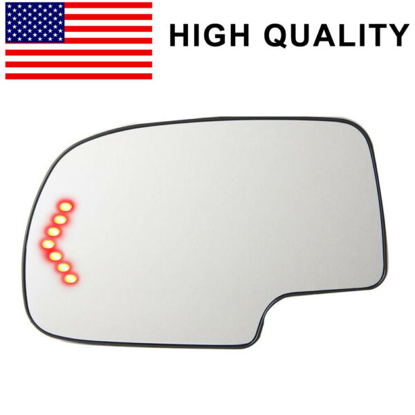 H-Quality Heated Turn Signal Mirror Glass Driver Side For 03-07 Chevy GMC 2PIN