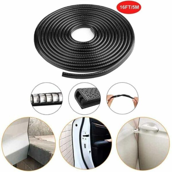 32ft Black Car Door Edge Guard Trim Molding Protector Auto Strip Moulding Guards