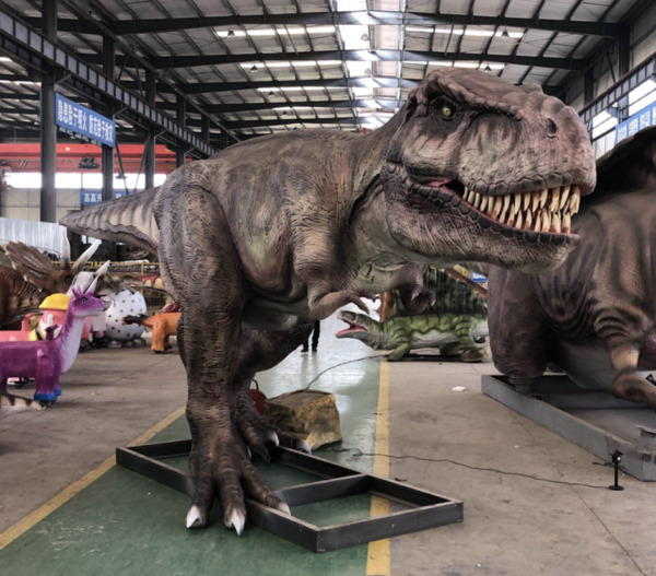 45' Commercial Animatronic Dinosaur Robotic Jurassic Spinosaurs Theme Park Prop