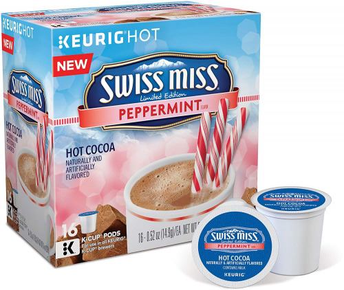 Swiss Miss Peppermint flavor Chocolate Hot Cocoa Keurig K-Cups 16 Count