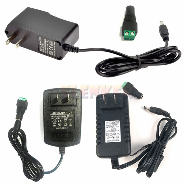 DC 12V 1A2A3A Power Supply Adapter Charger Transformer for 35285050 LED Strip