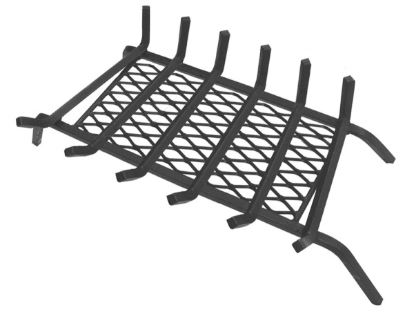 Landmann USA 97306 12in Steel Fireplace Grate with Ember Retainer 30in 6 Bars