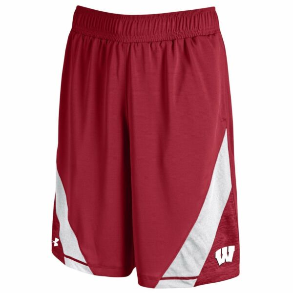 Under Armour Men's Wisconsin Badgers On-Field Sideline Performance Shorts
