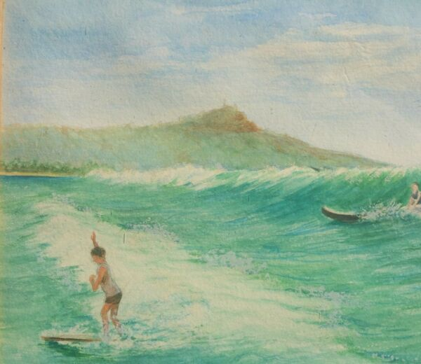 Vancouver B.C. Canada antique hawaiian surfboard painting vtg museum pacific art