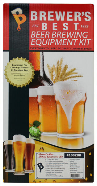 Deluxe Beer Brewing Equipment Kit wBetter Bottle Carboy