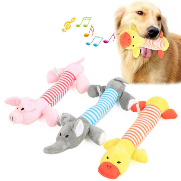 New Pet Puppy Chew Squeaker Squeaky Plush Sound Pig Duck For Dog Sound Toys
