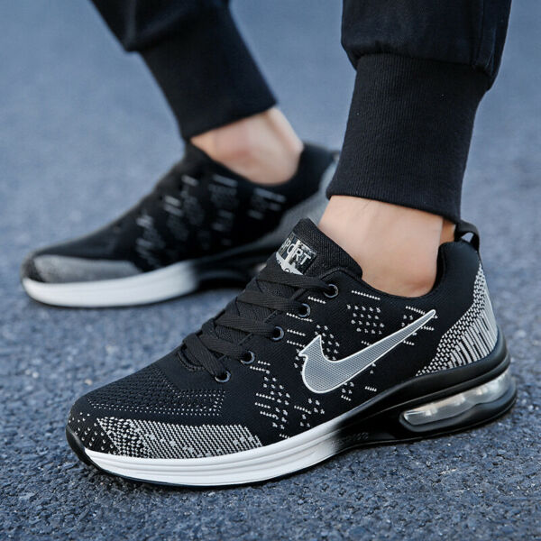 Mens High Top Sneakers Slip on Casual Athletic Breathable Sports Sock Shoes Size