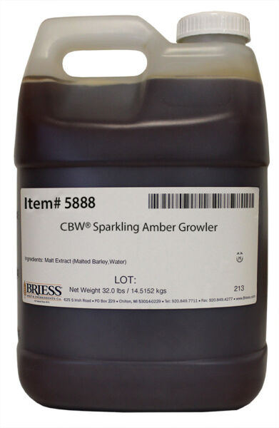 Briess Sparkling Amber Liquid Malt Extract 32 lbs for Home Brew Beer Making