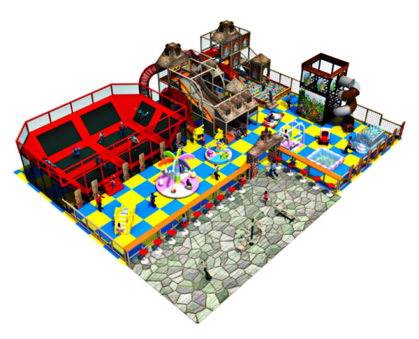 3500 sqft Commercial Trampoline Park Indoor Playground Soft Play We Finance 90%