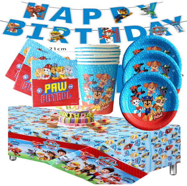 PAW PATROL Birthday Party Balloon Balloons Supplies Decoration DOG TABLE COVER $8.99