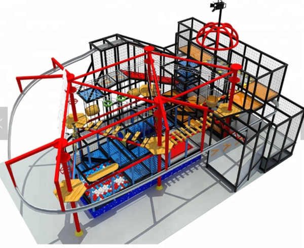 6000 sqft Commercial Zip Line Roap Course Playground Soft Play Zone We Finance
