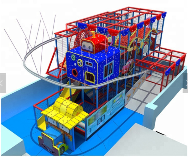 8000 sqft Commercial Indoor Zip Line Roap Course Playground Soft Play Zone
