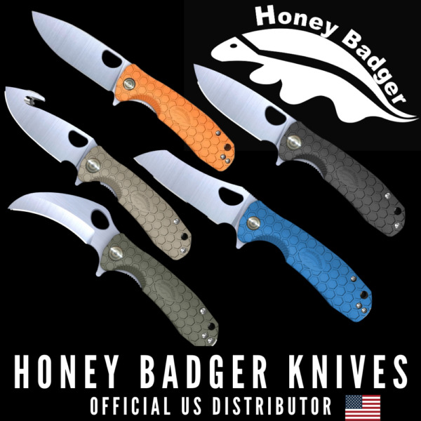 Honey Badger Folding Flipper Knife with Ball Bearing Action in Gift Box