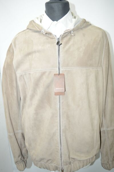 NEW 945000 $ STEFANO RICCI  Outwear Top Over Coat Leather   Us M Eu 50 (G82)