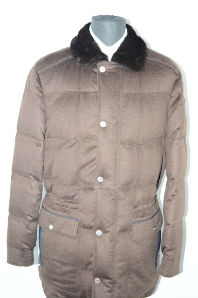 NEW 1165000 $ STEFANO RICCI  Outwear Top Over Coat Cashmere Us 4XL Eu 60 (G30)