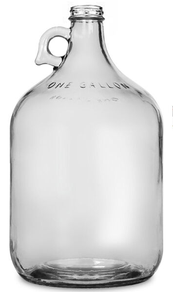 1 Gallon Glass Jug Carboy Fermenter for Home Beer or Wine Making
