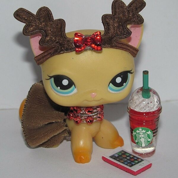 💞Littlest Pet Shop Clothes LPS Accessories Custom Reindeer *CAT NOT INCLUDED*💖