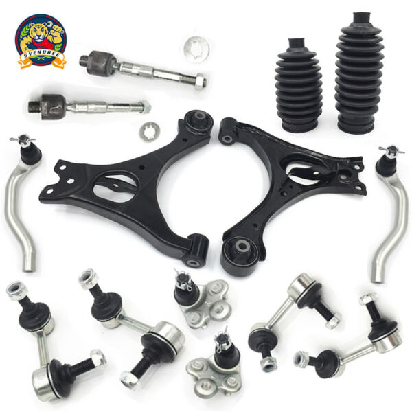 For 06-11 Honda Civic 1.3L 1.8L Lower Control Arm Ball Joint Sway Bar TieRod Kit